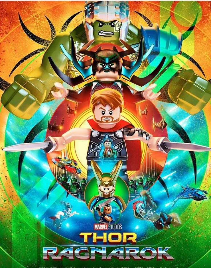 Lego Fied Version Of The Thor Ragnarok Poster Lego Poster Lego Thor Ragnarok Lego Wallpaper