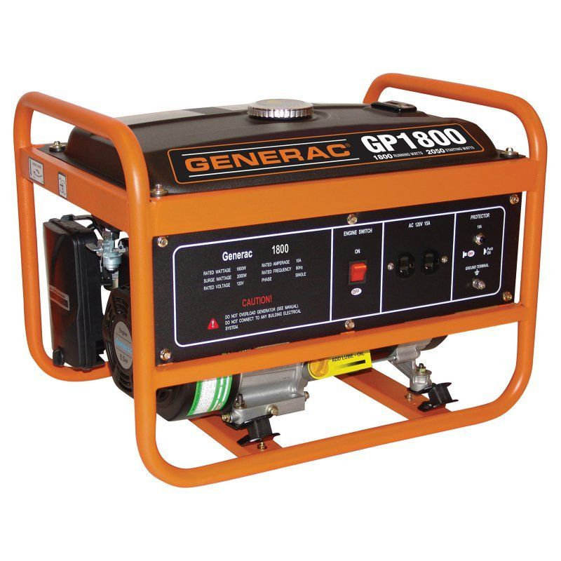 Generac 1800 Watt Portable Gas Powered Generator