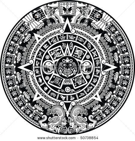 Calendario Azteca Vectores.Aztec Calendar Stock Vector Chicano Tatuajes Mayas
