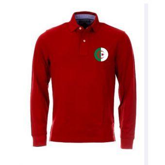 Polo De Foot De L Algerie Rouge Polo Shirt Mens Tops Polo Ralph Lauren