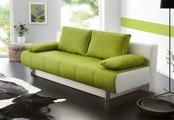 Schlaffunktion Sofa in Grün