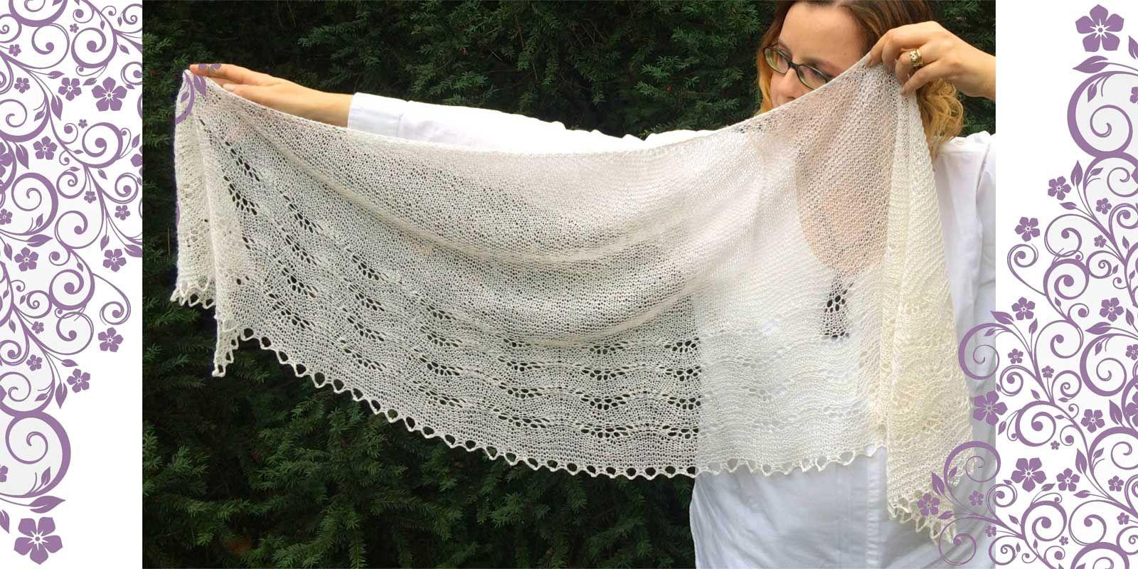 Onda Su Onda Shawl Knitting Pinterest Crescent Shawl Knitting
