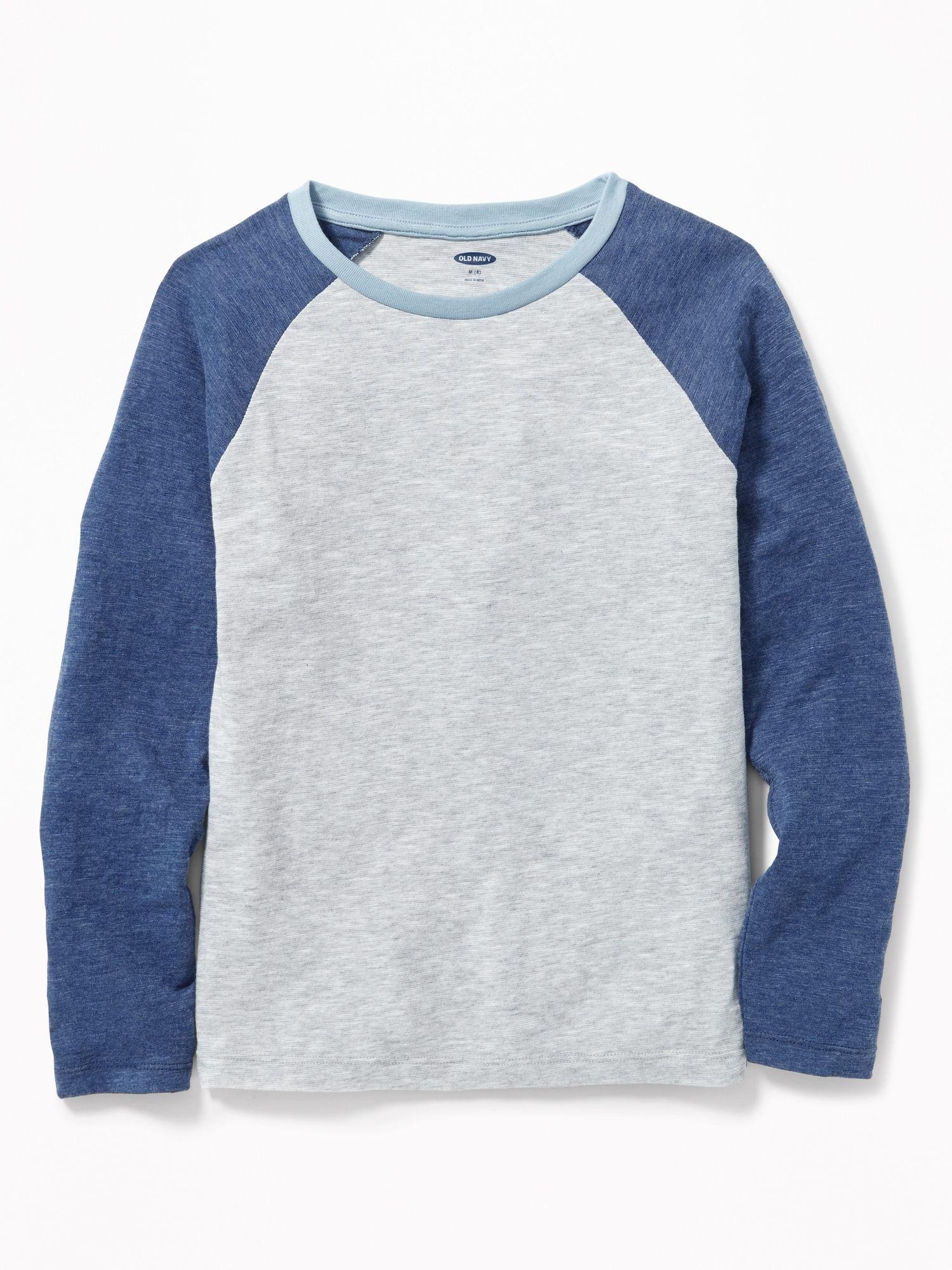 Toddler Kid Boy Girl Raglan Baseball Tee Shirt Tops Soft Casual T-Shirt