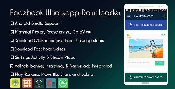 Facebook Whatsapp Status Downloader Admob Gdpr