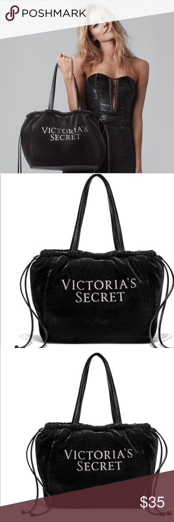 95cd199579 Victoria's Secret Luxe Velvet Tote 2018 Velour Bag NEW! Victoria's Secret  Luxe Velvet Tote 2018
