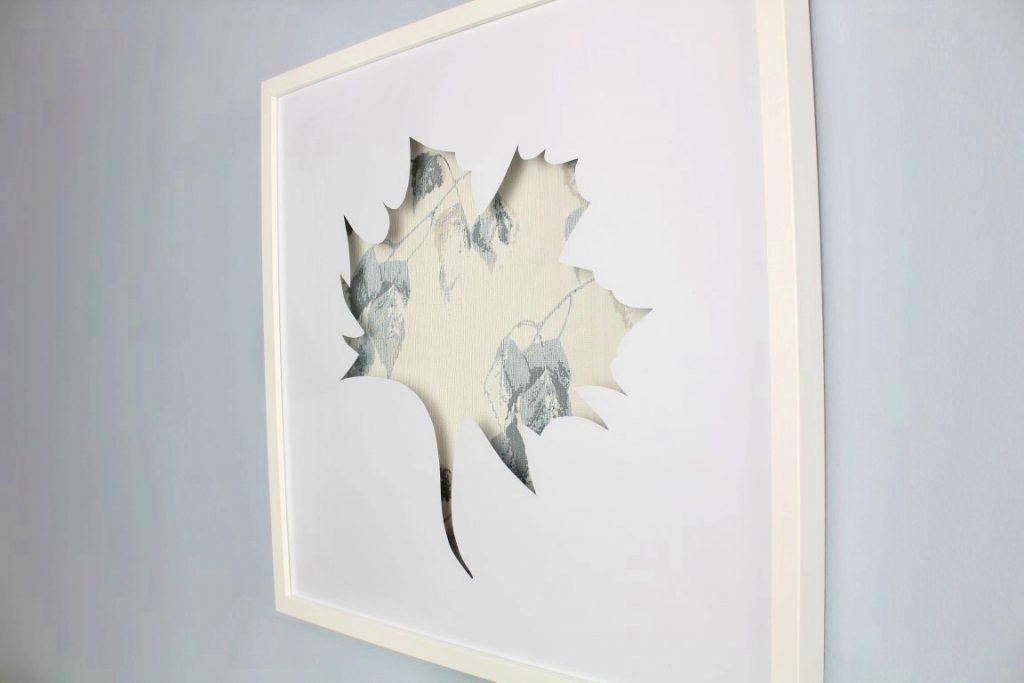 ikea hack 3d bilder mit tapetenresten im ribba bilderrahmen sonstiges tapeten bilderrahmen. Black Bedroom Furniture Sets. Home Design Ideas