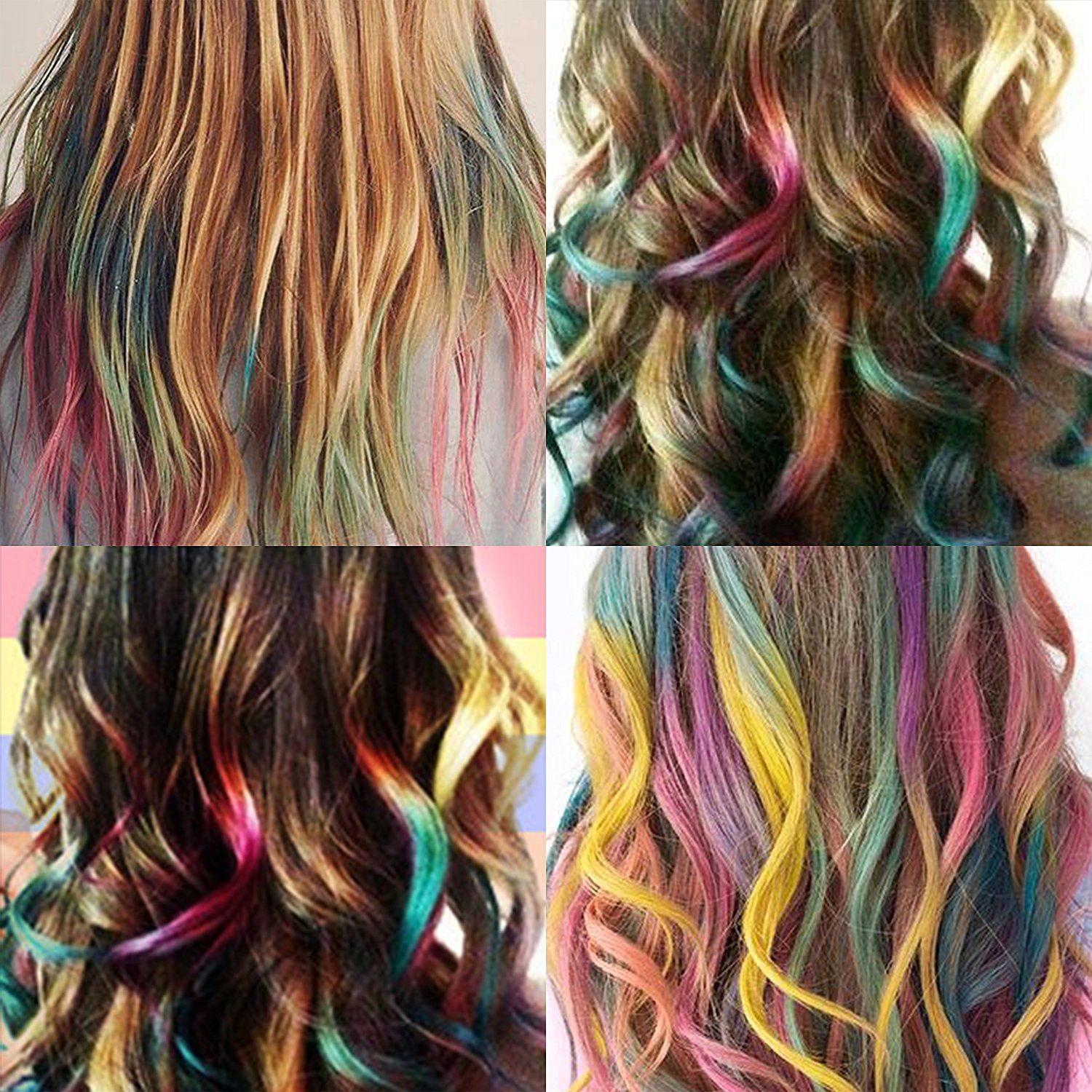 Temporary Hair Color Comb Washable Hair Chalk For Hair Dye Non Toxic