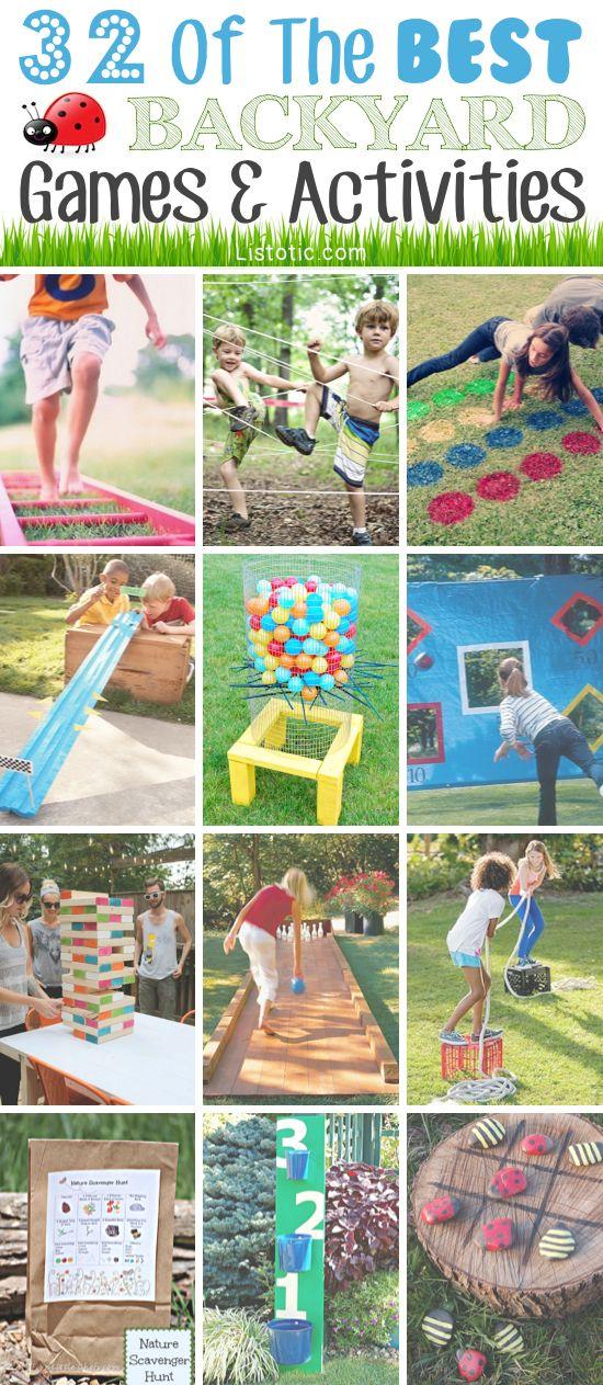 32 fun diy backyard games to play for kids adults kermesse pinterest jeux jeux. Black Bedroom Furniture Sets. Home Design Ideas