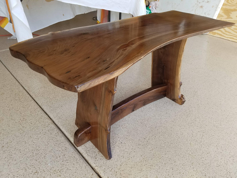 Live Edge Coffee Table In Arizona Walnut Wood