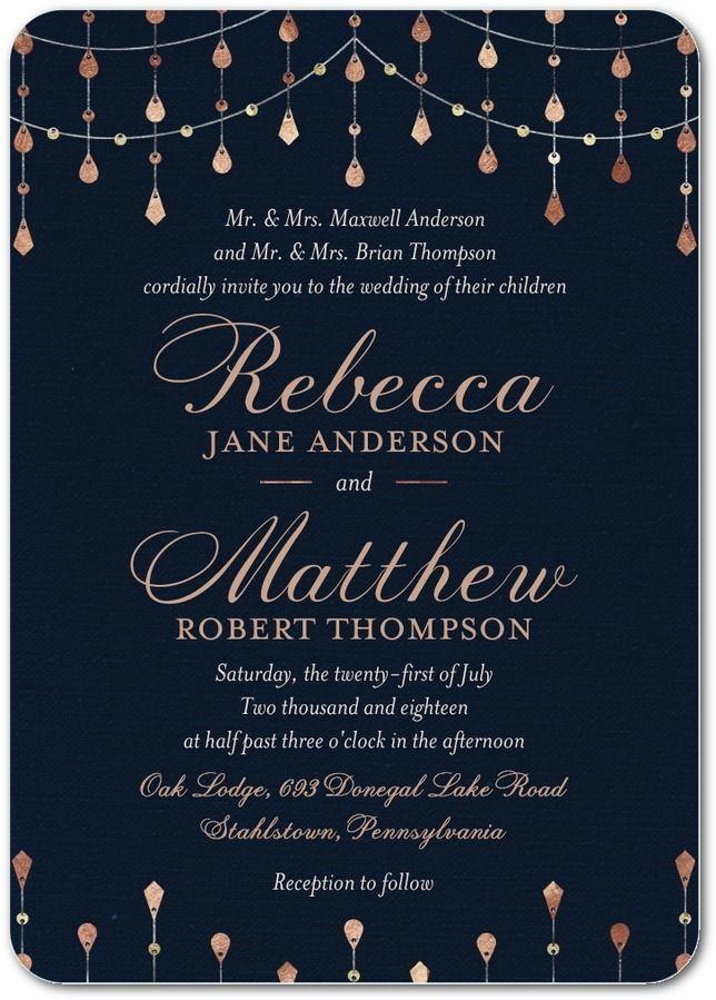 Radiant Sparkles - Signature White Wedding Invitations in Baltic or ...