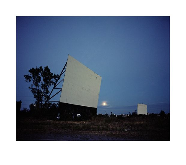 Wim Wenders, Drive-in at night, Montréal, Canada, 2013, Image courtesy the artist and BlainSouthern