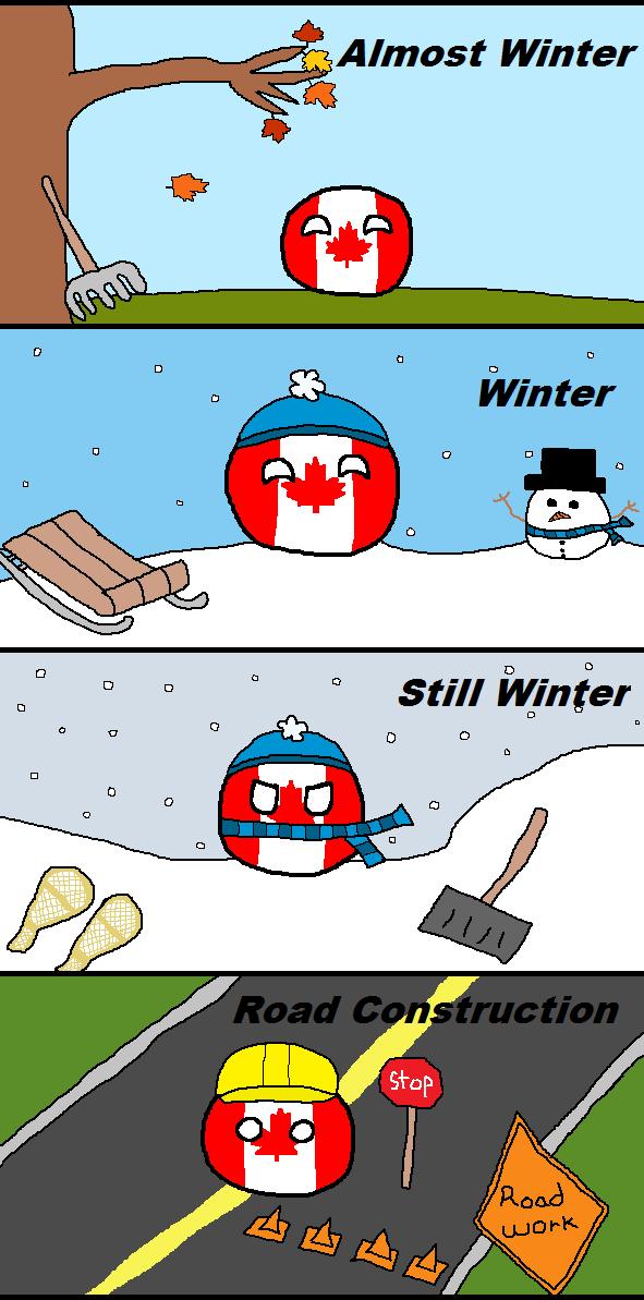 The Four Seasons Of Canada Post Canada Funny Canada Memes Canadian Memes