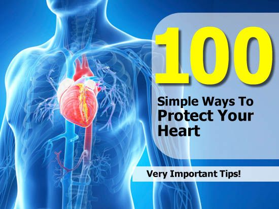 Interesting Post from our sister site Health Tips Watch: 100 Simple Ways To Protect Your Heart - http://www.healthtipswatch.com/100-simple-ways-to-protect-your-heart.html