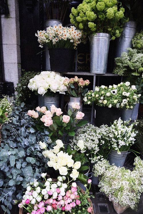 Fresh Market Flowers Pink And White Roses Babys Breath Greenery Pretty Flowers Flower Market Beautiful Flowers