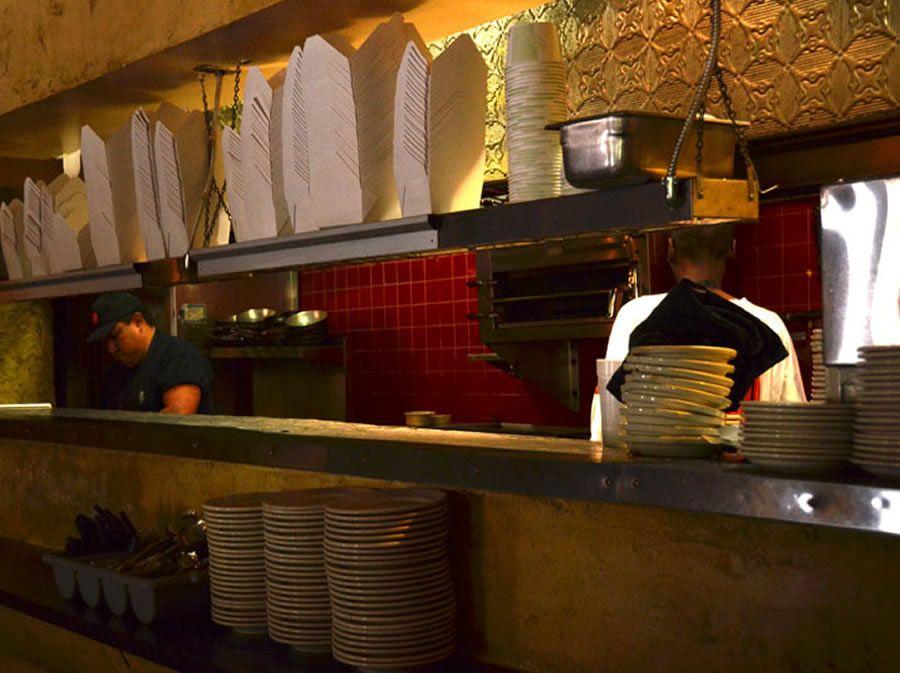 Contemporary Hospitality Restaurant Interior Design Of Bellas Italian Cafe South Tampa Florida Kitchen Bar Photograph 01
