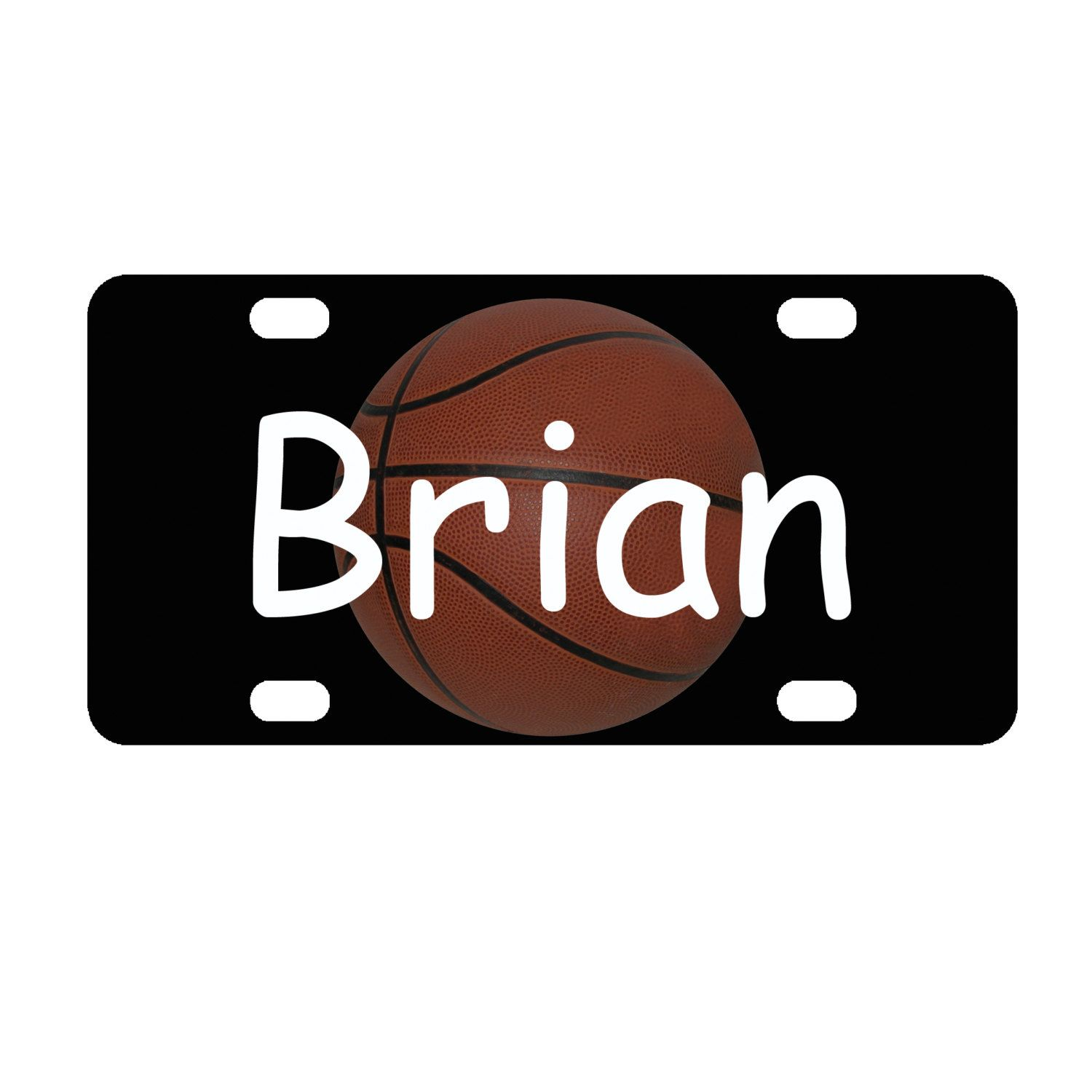 Kid\u0027s Color Basketball Personalized Mini License Plate Bike Plate Bedroom Door Sign by everydayessentials on Etsy  sc 1 st  Pinterest & Kid\u0027s Color Basketball Personalized Mini License Plate Bike Plate ...