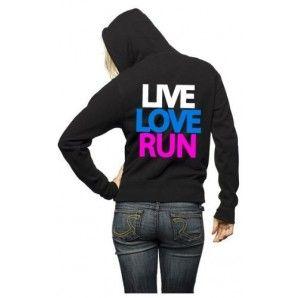 Live Love Run Cross Country Hoodie Back