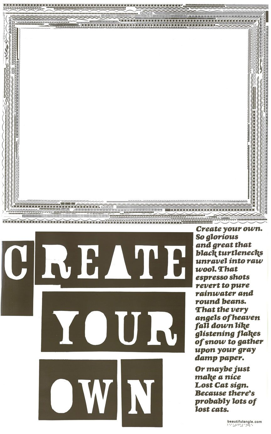 Poster design your own - Image Of Beautiful Angle November 2007 Letterpress Poster Create Your Own