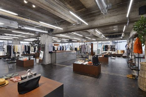 Biotop By Suppose Design Office Raw Concrete Floors And Ceilings With Exposed