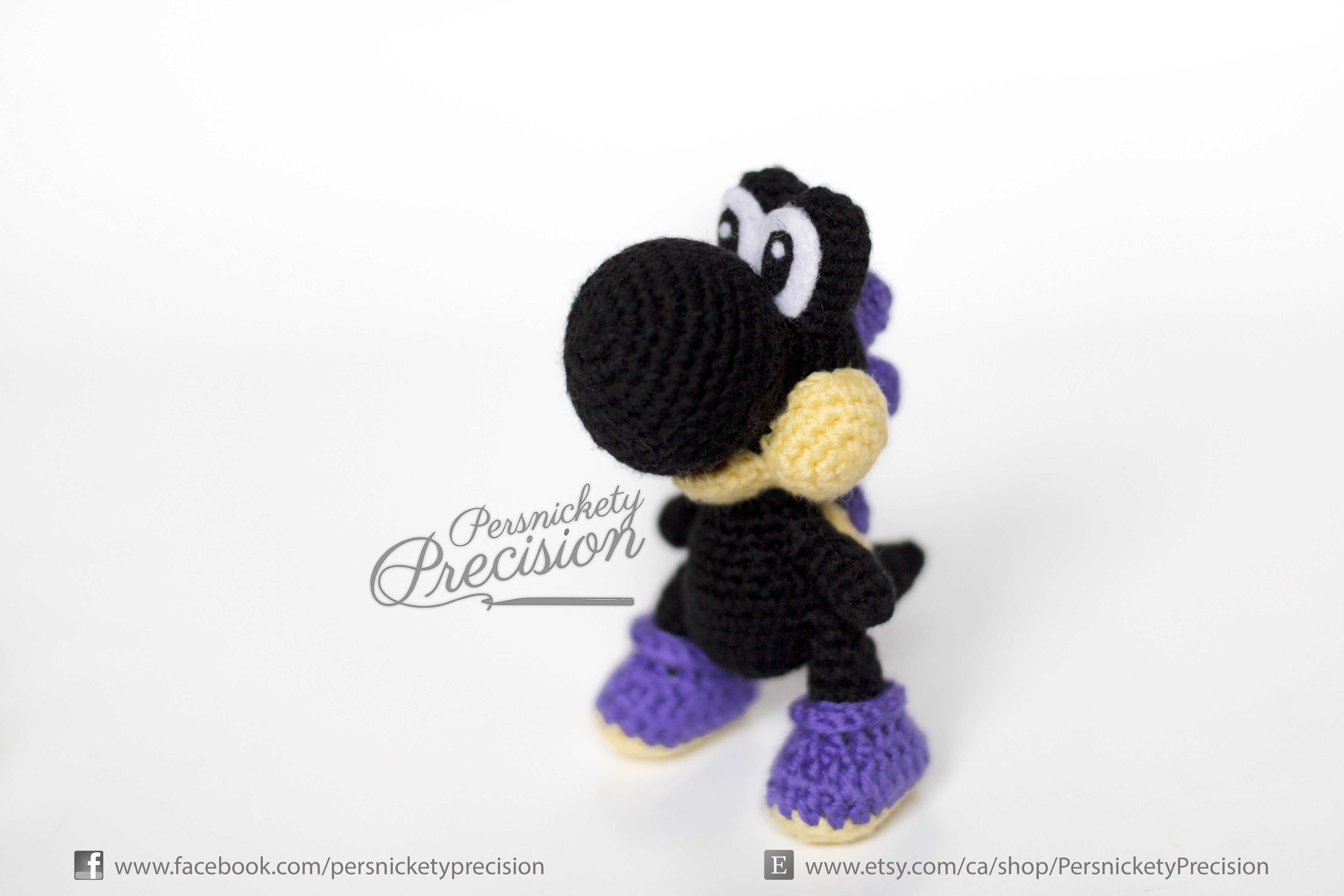 Crochet Nighttime Yoshi by Persnickety Precision on Etsy. Just in ...