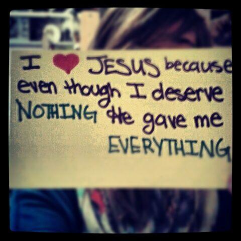 I love Jesus because....