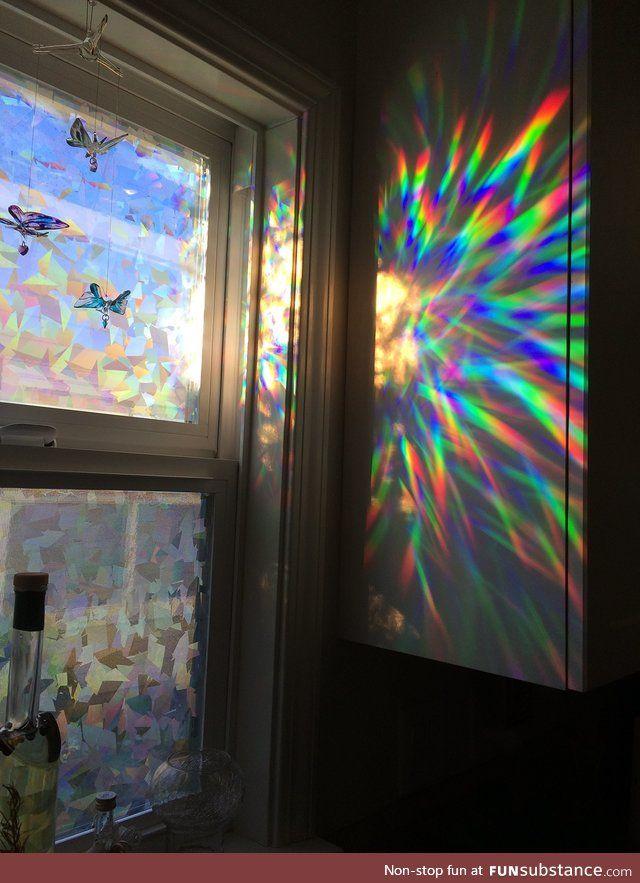 Holographic window film - FunSubstance