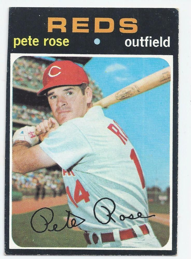 1971 pete rose baseball card mlb pete rose baseball