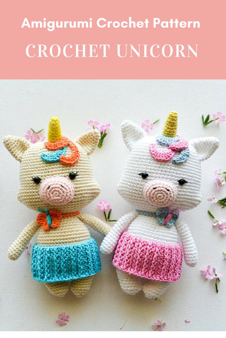 Crochet Unicorn, Pattern, PDF, English (US), German and Portuguese ...