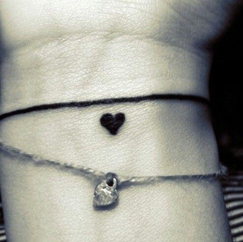 Heart bracelet tattoo