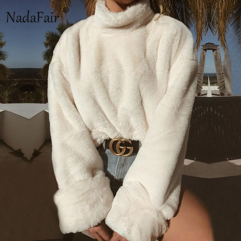 9ea6bfb40 Korea Ladies Winter Sweaters and Pullovers Turtleneck Oversized Sweaters  Women Solid Loose Thick Warm Knitted Sweater Pull Femme