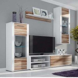 Meuble tv mural design alejandro led atylia meubles tv for Atylia meuble tv