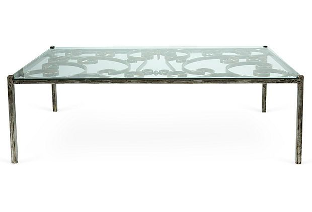 Charmant Antique Iron Gate Coffee Table On OneKingsLane.com