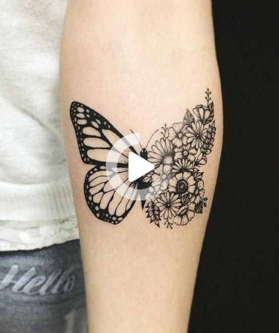 Photo of Butterfly tattoo – symbolism, meaning and models – living ideas and decoration … #tattoofeminin