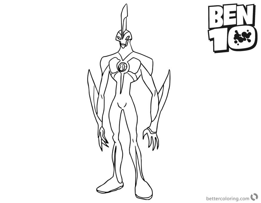 Ben 10 Waybig Coloring Pages Coloring Pages Color Ben 10