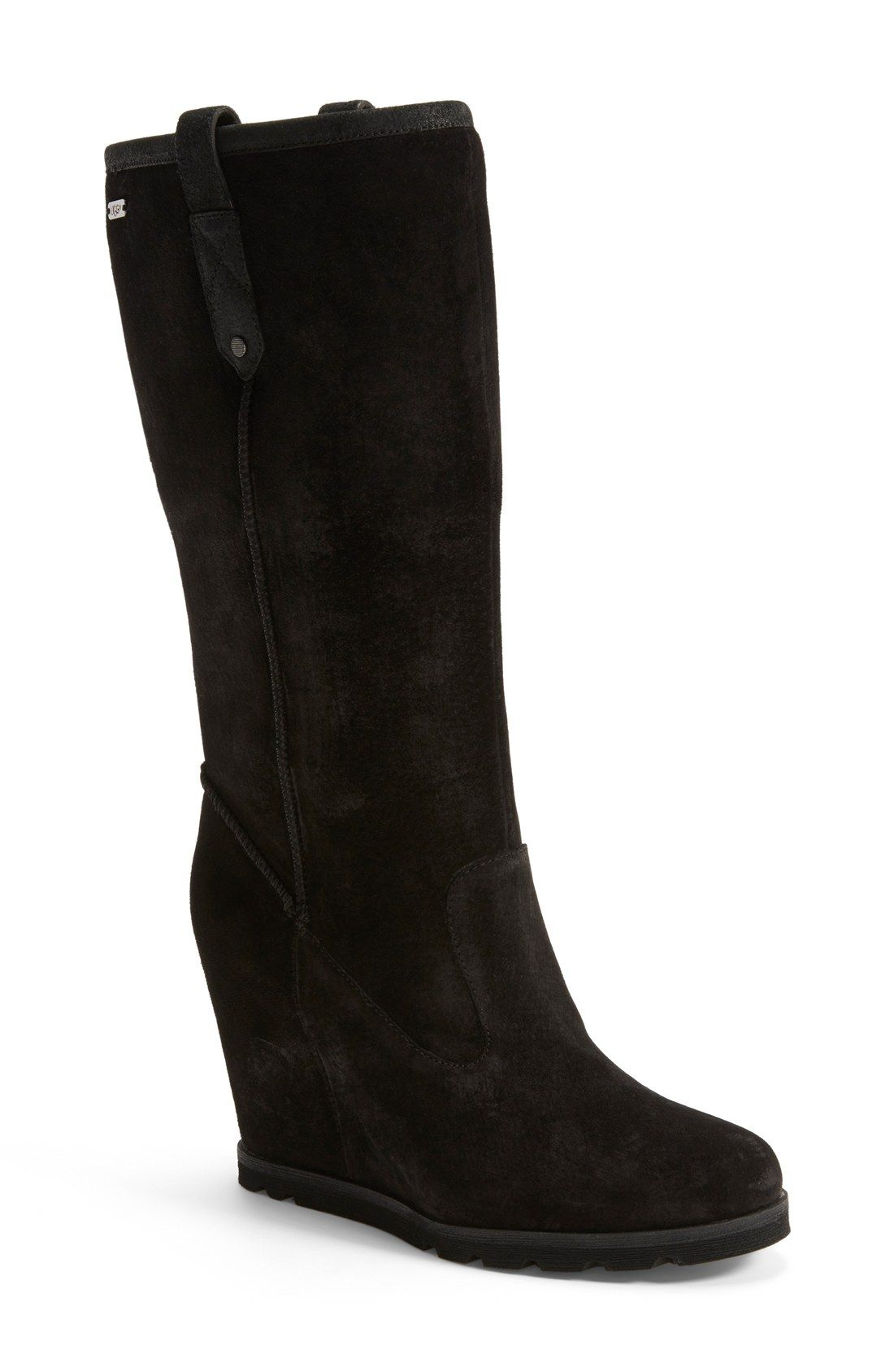 Womens Boots UGG Soleil Black Suede/Leather