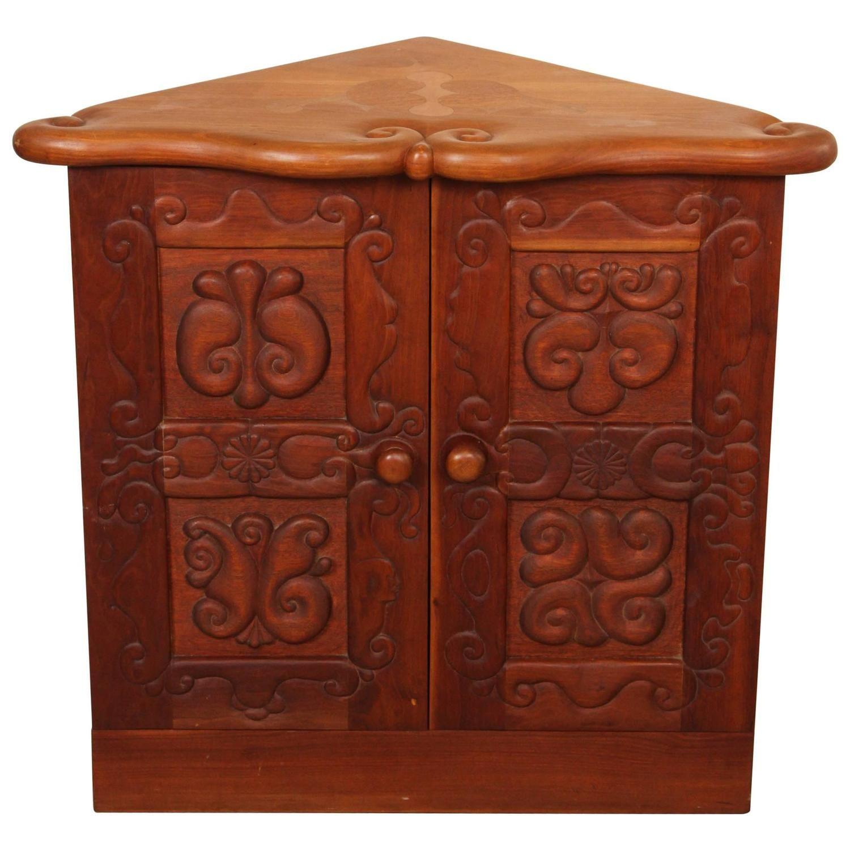 John Bauer Corner Cabinet