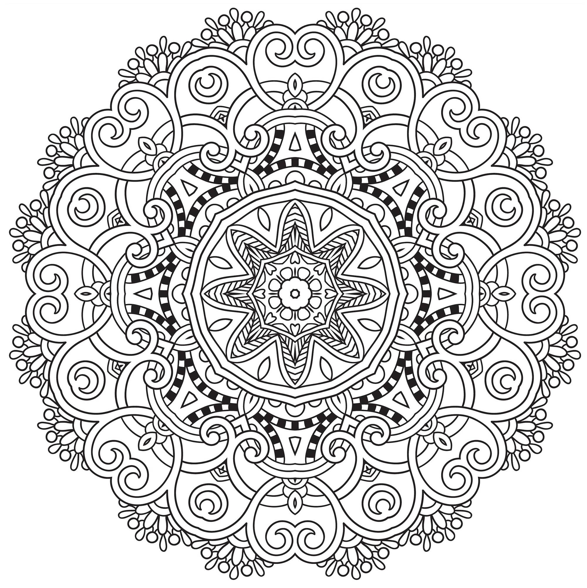 Here Are Difficult Mandalas Coloring Pages For Adults To Print For Free Mandala Is A Sanskrit Word Which Designs Coloring Books Mandala Coloring Mandala Book
