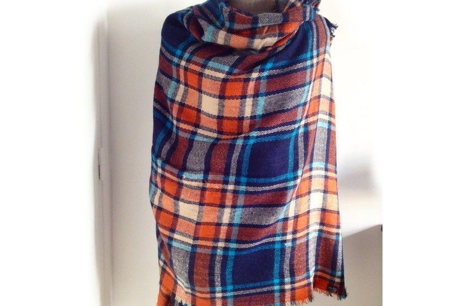 Écharpe pied de poule homme femme foulard tartan homme femme écossais  tendance mode 02afe03d17c