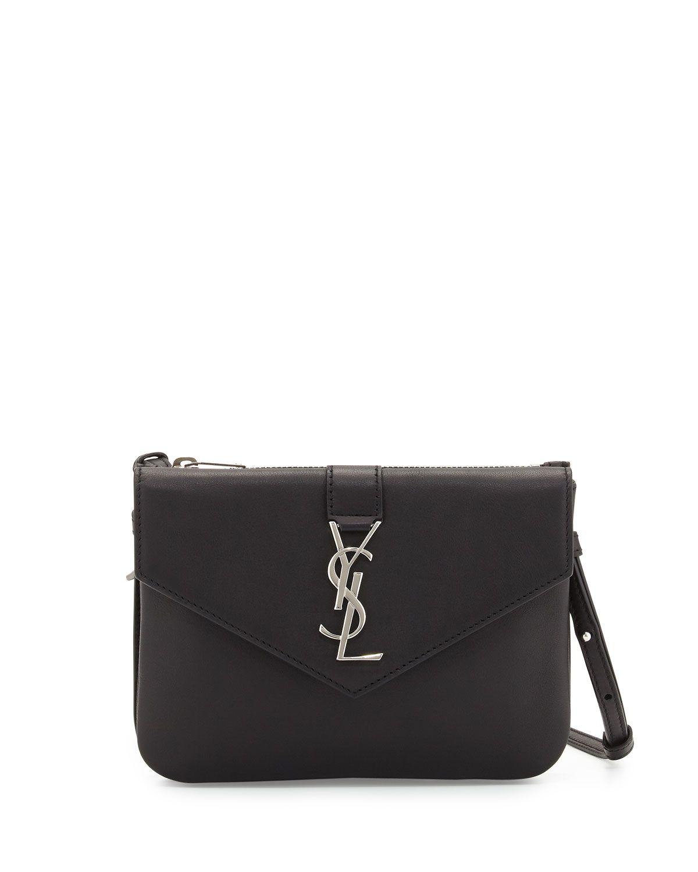 d2330b90ce73db ... Wallets at Neiman Marcus. Yves Saint Laurent Tri-Pocket V-Flap  Crossbody Bag, Black