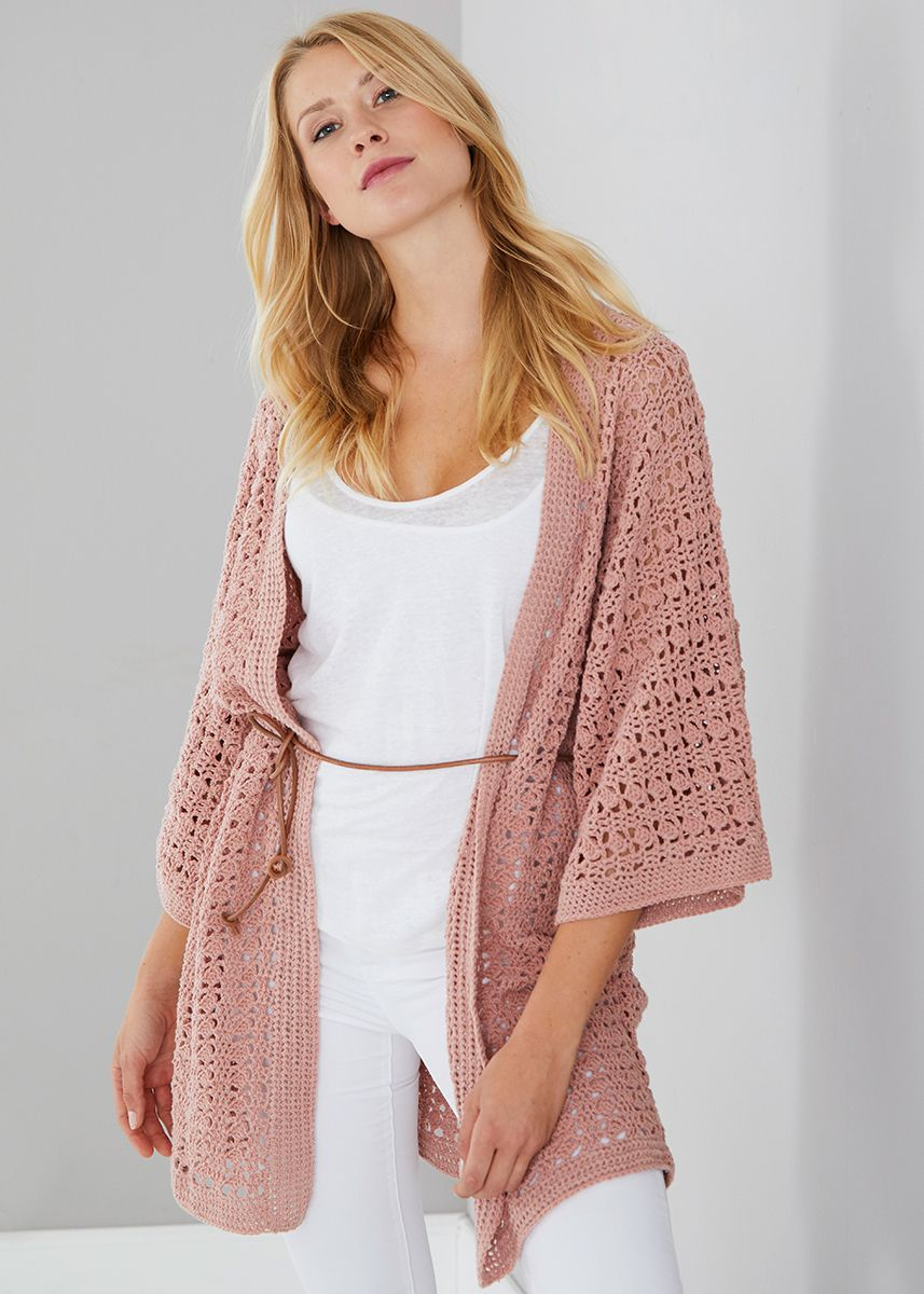 Haakpatroon Dames Vest Haken Pinterest Crochet Jacket Kimono