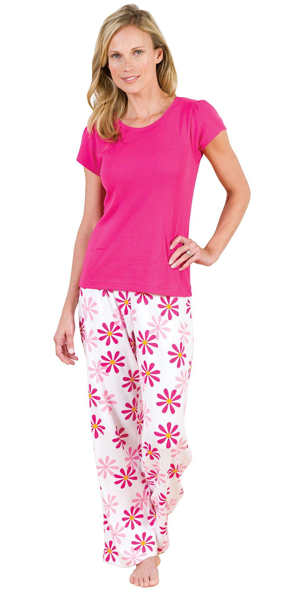 f6cd7e6732 Fuchsia Daisy TJs for Women - Pajamas from PajamaGram.  55.99  Daisy   Pajamas