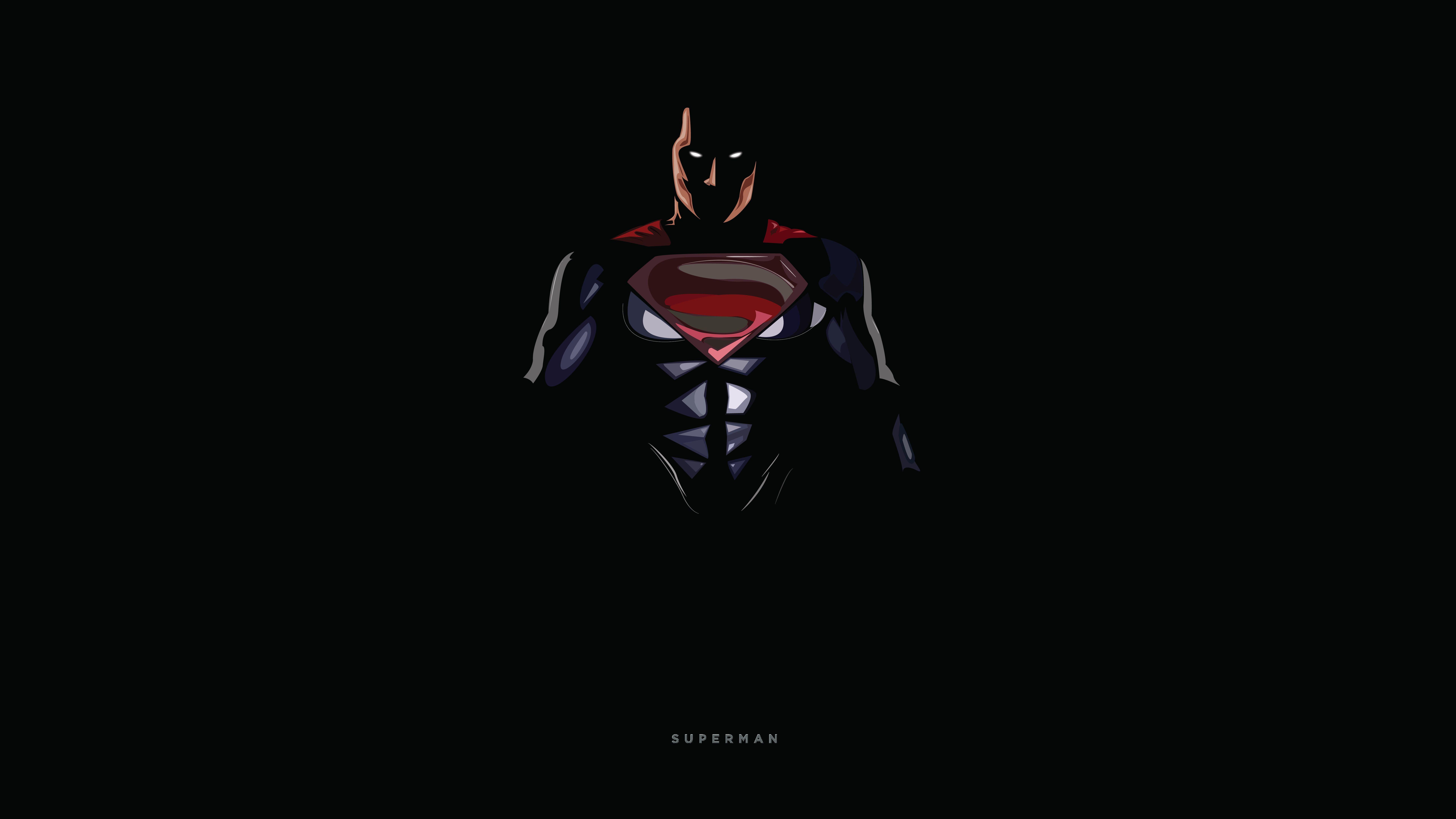 Superheroes DC Comics 8K Dark background Minimal