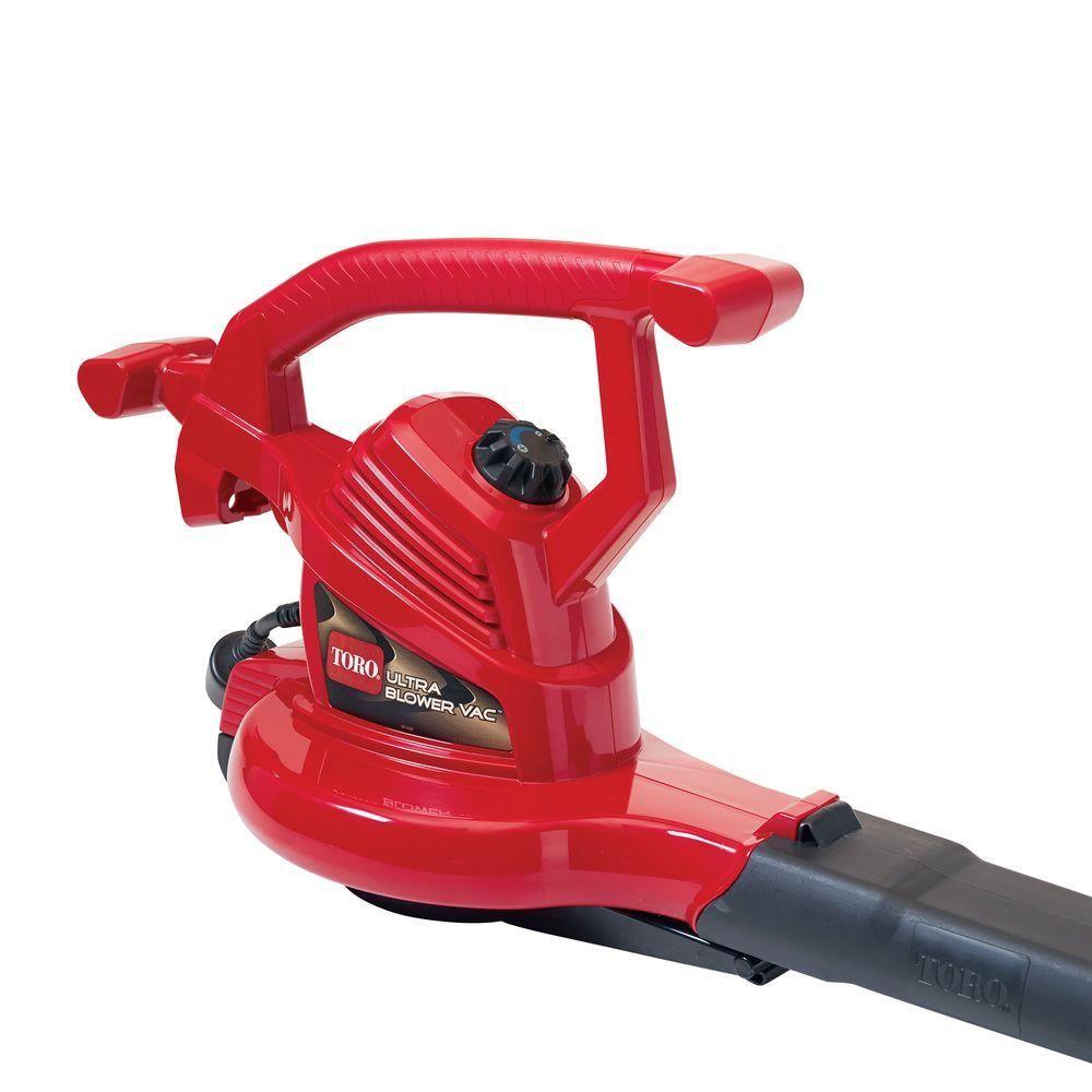 Toro Ultra 250 Mph 350 Cfm Electric 12 Amp Blower Vacuum Mulcher 51619 Electric Leaf Blowers Leaf Blower Blowers