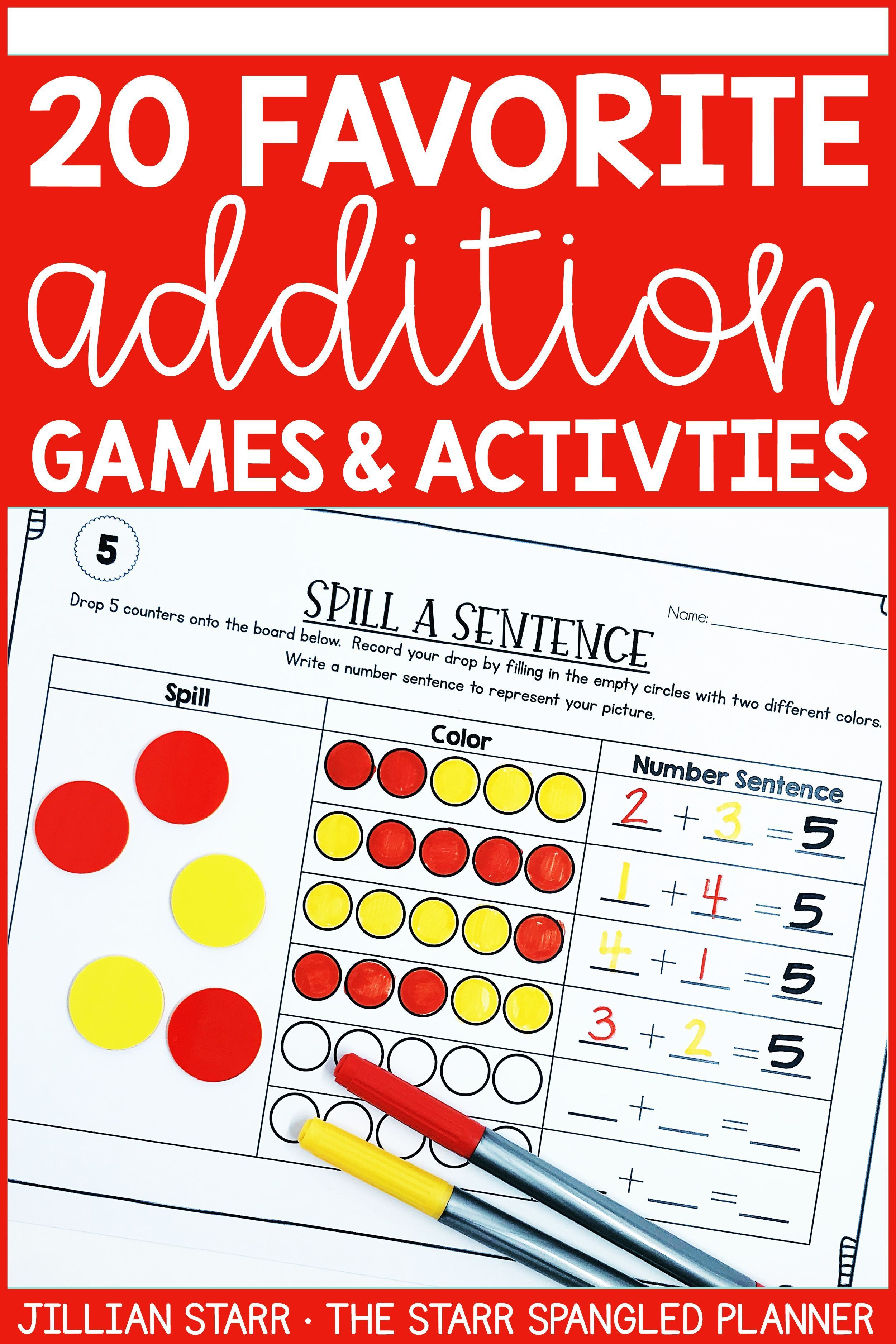 20 Fun Addition And Subtraction Math Center Ideas To Help
