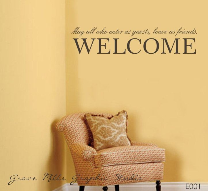 Welcome Wall Decor - Welcome Wall Decal - Family Wall Decal - Wall ...
