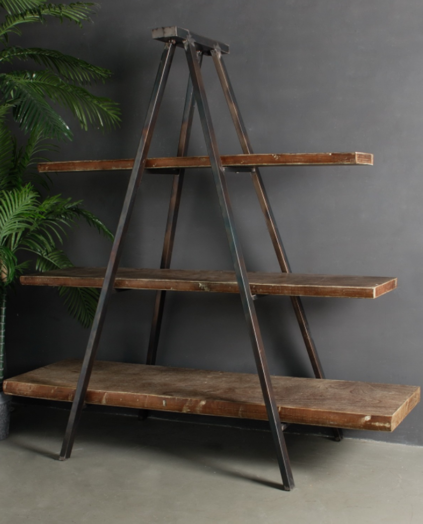 Industrial Tripod Bookcase - Allissias Attic & Vintage French Style - 1