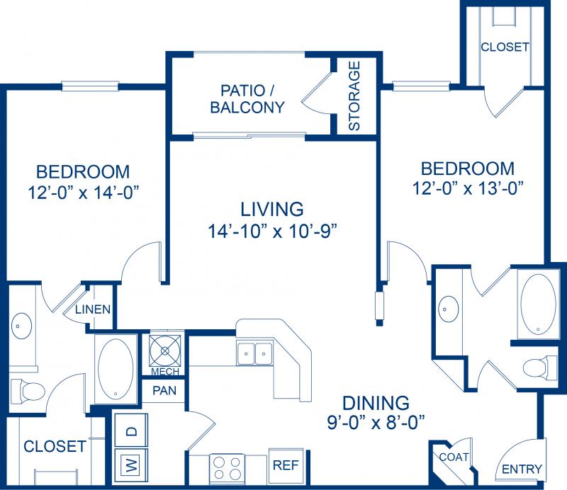 Pet Friendly Apartments, Bedroom
