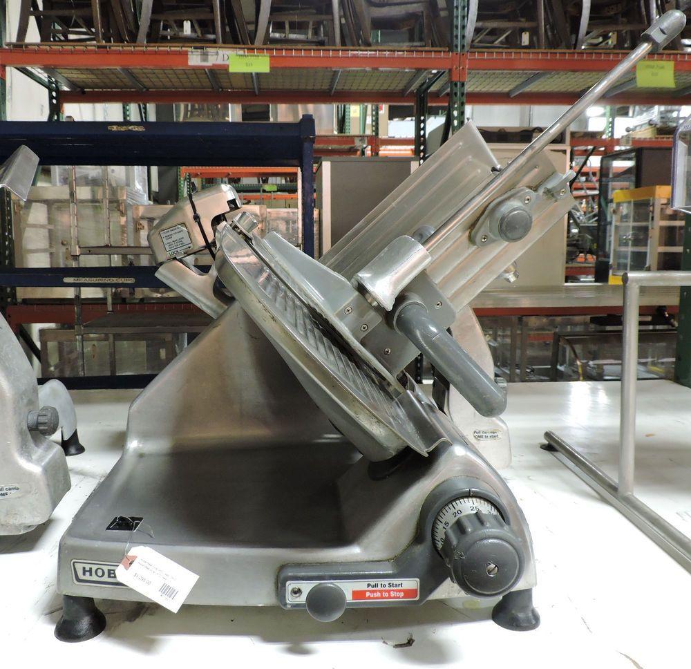 Hobart 2612 manual meat slicer with sharpener | hobart automatic.