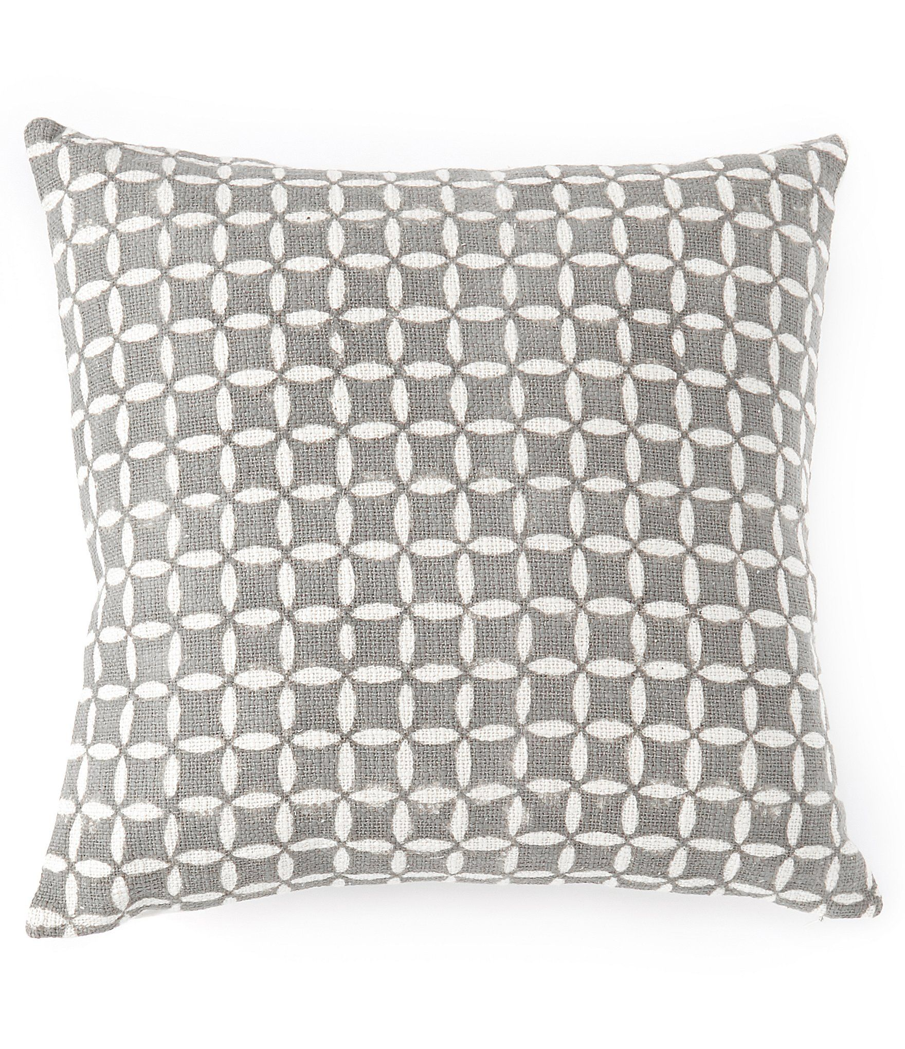 Southern Living Simplicity Collection Madison Woven Square Pillow - Gray N/A