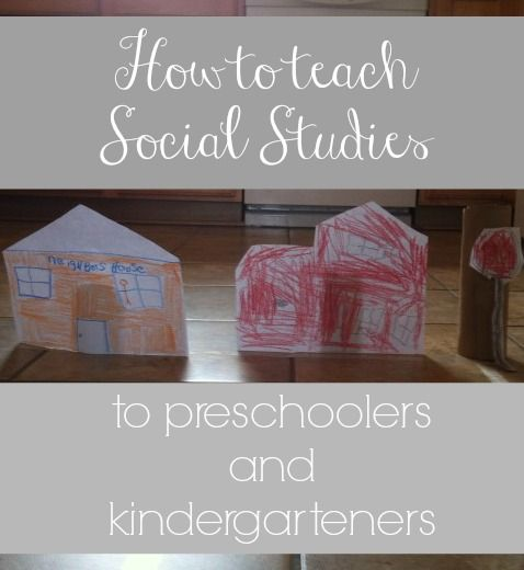 cute and easy ideas for how to teach social studies to little ones